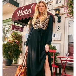 Free People Heart's Desire Embroidered maxi dress